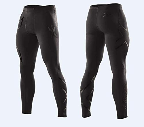 2XU Men's Compression Tights, Black/Black, X-Large