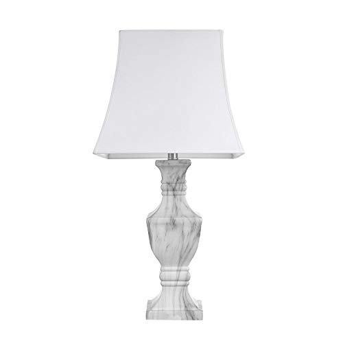 GLOBE ELECTRIC 12751 Marble Finish Table Lamp -