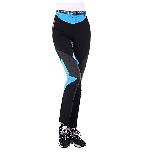 gugs Womens Breathable Waterproof Windproof Softshell Pants Outdoor Hiking Climbing Camping Cycling Trousers Winter Hiking Ski Snowboarding Pants (M, Bule) ()