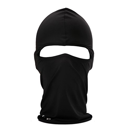 Cycling Sports Face Mask Cool Fashionable Ultra Thin Balaclava (Black)