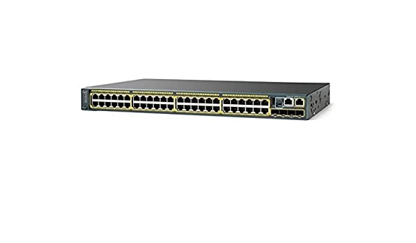 LAN Base Switch Cisco WS-C2960S-48TD-L 48 x 10//100//1000 RJ45 Ports 2 x 10G SFP