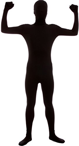 [VSVO Second Skin Zentai Full Body Costume (X-Large, Black)] (Black Bodysuit Costume)
