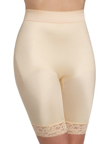 - Rago Shapewear Long Leg Shaper W/gripper Stretch Lace Bottom Beige Xl