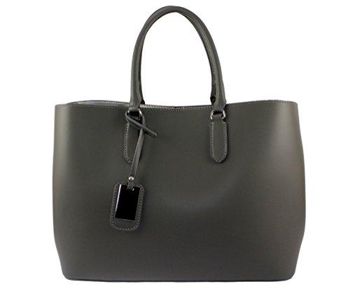A Donna Un'altra Chloly Grigia Scuro Tote Pelle Bag znAxcqHXwF