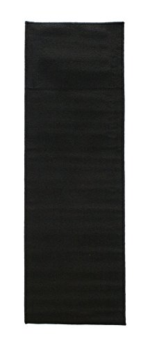 Ritz Accent Kitchen Rug with Latex Backing, 20-Inch by 60-Inch Runner, Black