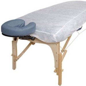 10 Ct. White Non-woven Disposable Elastic Fitted Bed Sheets Cover Massage Table Facial Chair For Spa, Beauty Salon, Medical Clinics, Physiotherapists, Chiropractors, Sporting Clubs. from Gold Cosmetics & Supplies