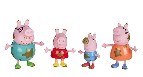 Peppa Pig Muddy Puddles Family 4-Figure -