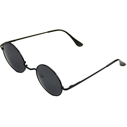 Lentes Negro hippie los Gafas de Marco estilo sol de Grises 60 años qzzUtvXw