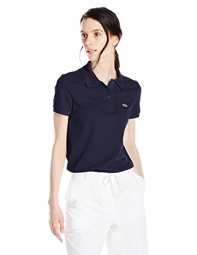 picture of Lacoste Women's Short Sleeve Pique Classic Fit Polo Shirt, Navy Blue, 42