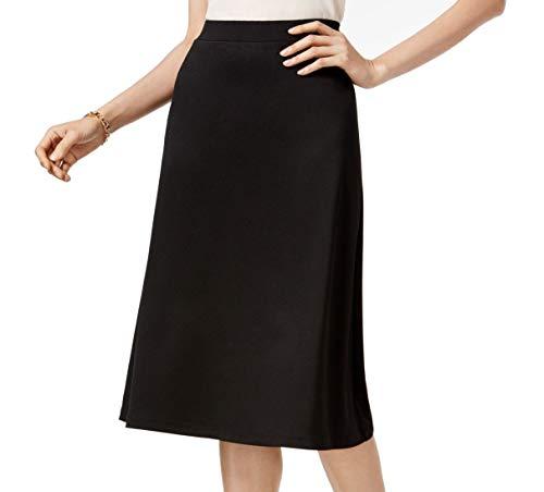 Kasper Womens A-Line Suit Seperates Midi Skirt Black M