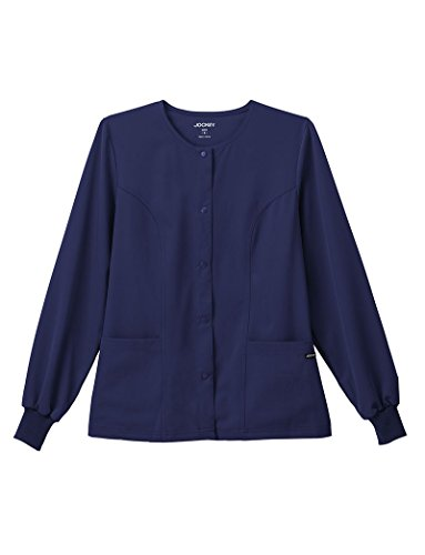 Classic Fit Collection by Jockey Women's Round Neck Solid Scrub Jacket XX-Large New Navy by Jockey® Scrubs