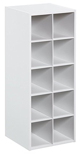 - ClosetMaid 1545 Stackable 10-Cube Organizer, White