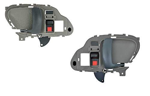 Door Handle Interior Set fits 1995-2000 Chevy GMC Tahoe Suburban Yukon Silverado (15708043, 15708044) (1995 Chevy Silverado Truck)