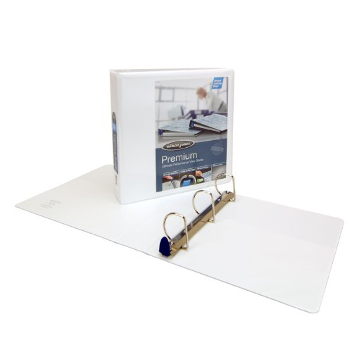D-ring Premium White View Binder (Wilson Jones Line Premium Single Touch Locking D-Ring 2 Inch Capacity 8 1/2 x 11 Inch White View Binder)