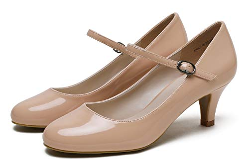 Femme Nude Patent Camssoo Bride Pu Cheville Wxw668HEvq