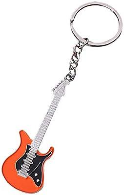 Kentop - Llavero de metal con llavero para guitarra eléctrica ...
