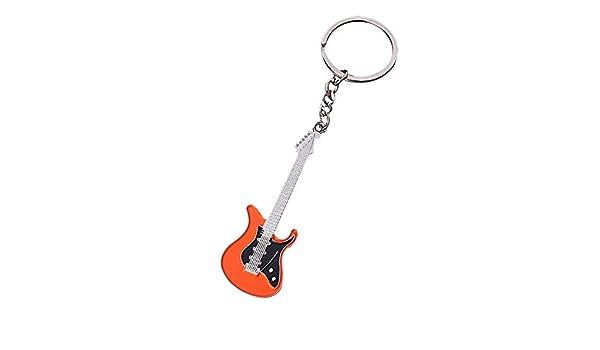 Gysad Llavero Forma de guitarra Metal llaveros Conveniente para ...