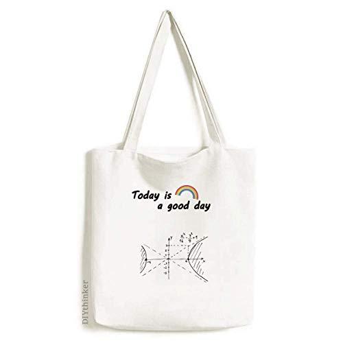 Math Kowledge Hyperbolic Curve Tote Canvas Bag Craft Washable Fashion Shopping Handbag