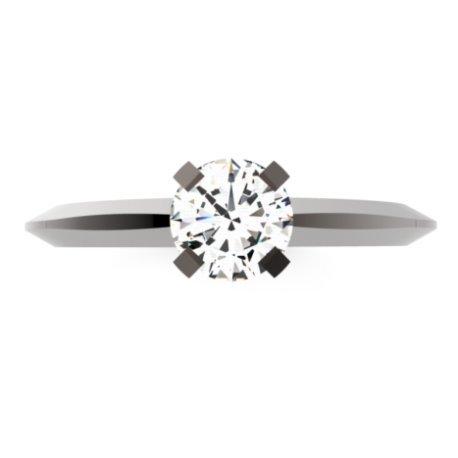 ANGI Bagues Or Noir 18 carats Saphir Blanc 0,6 Rond