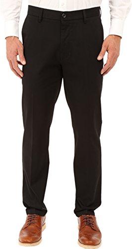 Dockers Men's Slim Tapered Fit Signature Khaki Pants,Black (Stretch),30W x 30L