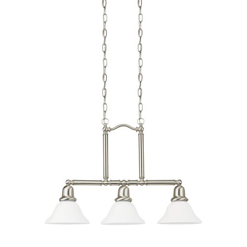 Sea Gull Lighting Sussex Brushed Nickel Energy Star Three-Light LED Island Pendant - Energy Star Island Pendant