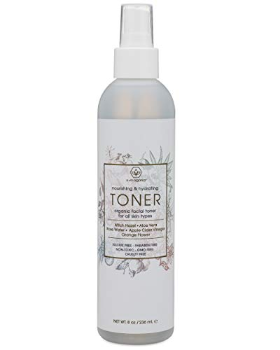 Facial Toner & Organic Face Mist - Extra Nourishing & Hydrating Natural Facial Mist with Witch Hazel, Apple Cider Vinegar, Rose Water for Dry, Oily, Acne Prone Skin Balance pH 8oz Era-Organics (Best Organic Face Mist)