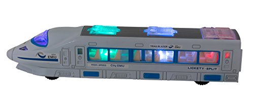 ToyThrill Trailblazer Electric Train Car Toy with Automatic Sensor, Flashing Lights and Siren Music: Best Birthday Gift for Toddlers & Boys (Ages 3 yrs & Up)