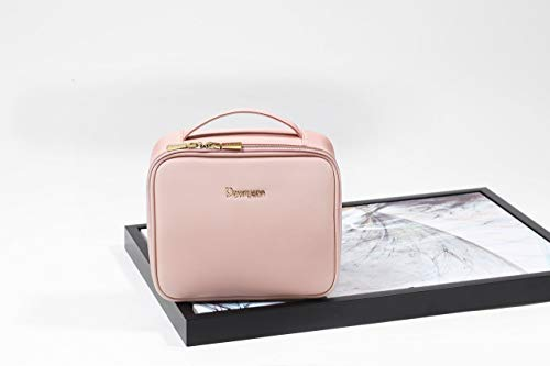 8e8169924c5a BEGIN MAGIC Travel Makeup Train Case Professional Makeup Bag Small Portable Cosmetic  Organizer Case with Dividers