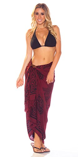mundo Deep Pattern mujeres Your Celtic en 1 para Sarongs Sarong Burgundy Choice color de Unicorn RqEpxnOx0w
