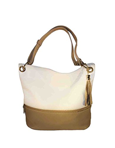 CODE4FASHION, Borsa a spalla donna beige beige