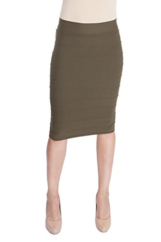 Esteez Stretchy Pencil Skirt for Women Opaque Lightweight Slimfit Bandage style