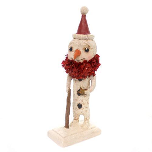 Christmas Star Snowman Polyresin Carrot Nose Hh7939