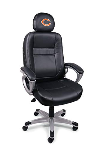 NFL Chicago Bears Leather Office Chair (Renewed)