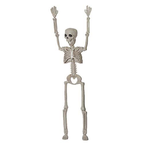 Toyvian Halloween Scary Skeleton Cuerpo Completo Huesos Humanos realistas con articulaciones posables para Halloween Pose...
