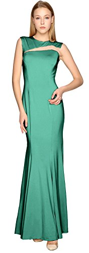 Formal Evening Party Gown Sheath Cut MACloth Jersey Teal Prom out Dress Simple Ow717q0