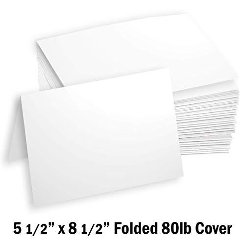 Hamilco White Cardstock Thick Paper - 5 1/2 x 8 1/2