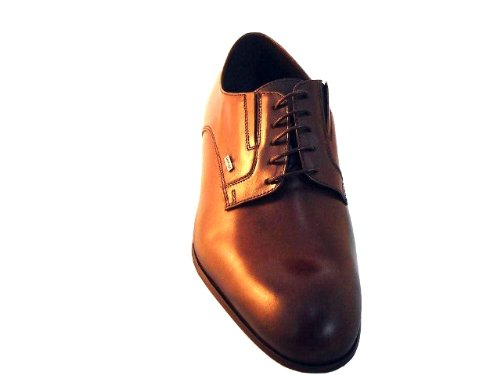 Doucals Heren 2069 Chic Italiaanse Veter Oxford Schoenen Bruin