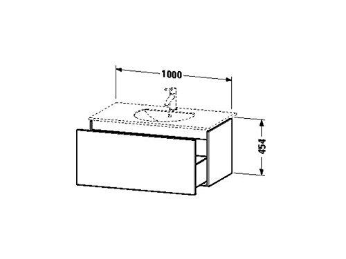 Duravit Waschtischunterschrank wandh. Delos 541x1000x454mm 1 Auszug, für 049910, weiss hochglanz, DL