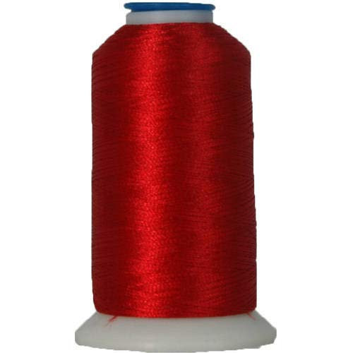 Threadart Polyester Machine Embroidery Thread By the Spool - No. 148 - Christmas Red - 1000M - 220 Colors Available