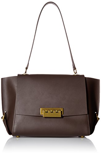 ZAC Zac Posen Eartha Folded Gusset Shoulder Flap-Brown, Espresso