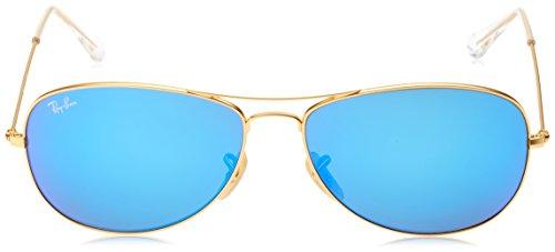 70b003f8f1b Ray-Ban COCKPIT - MATTE GOLD Frame GREY MIRROR GREEN Lenses 56mm  Non-Polarized ...