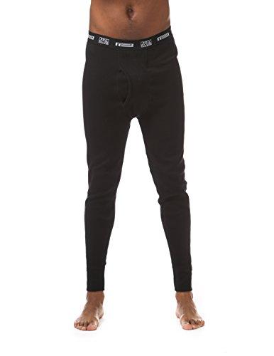 Pro Club Thermal Long Pants Underwear, 4X-Large, Black