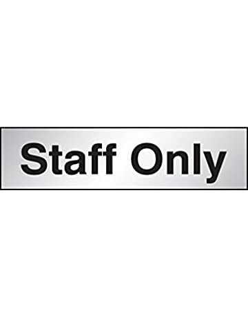 Caledonia Signs 59077 Shower Label Engraved Aluminium Effect Pvc 140 mm x 35 mm