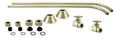 Westbrass Brass Single Offset Bath Supply Lines with 1/2 in. IPS Valves