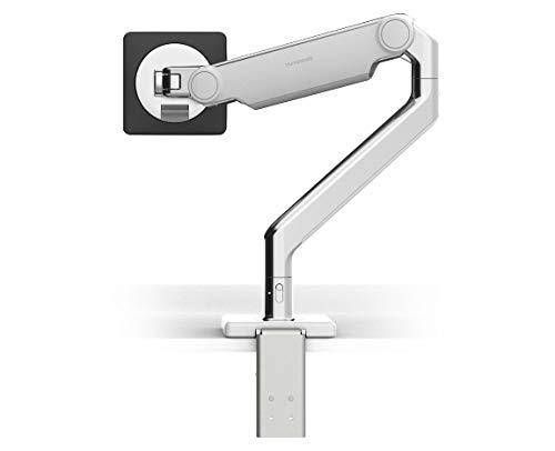 Humanscale M2.1 Adjustable Monitor Arm with Clamp Mount - Polished Aluminum M21CMWBTB - Alum Clamp