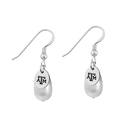 - Texas A&M Aggies Sterling Silver Cultured Freshwater Pearl Drop Earrings