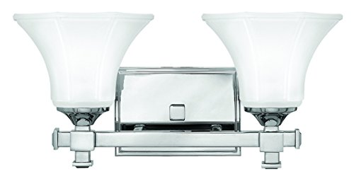 Sconce Chrome Hinkley (Hinkley 5852CM Traditional Two Light Bath from Abbie collection in Chrome, Pol. Nckl.finish,)