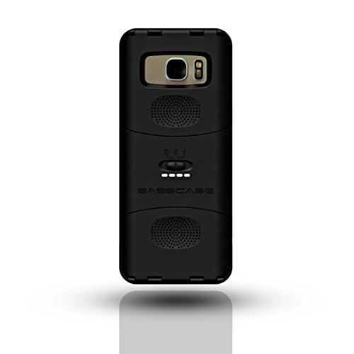 BassCase - Battery Case & Dual Speaker Case Protective Phone Case for Samsung Galaxy S7 Edge - Black