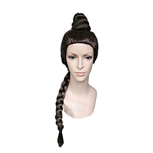 Xcoser Famous Film SW Princess Leia Wig Cosplay Coffee Brown Long Braid Wig