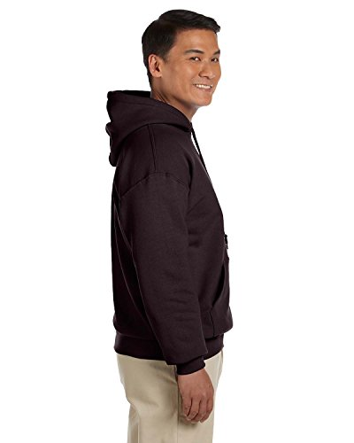 Gildan Mens Heavy Blend Hooded Sweatshirt, Large, Dark Chocolate
